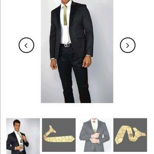 Hex Tie Gold Terremoto Tie